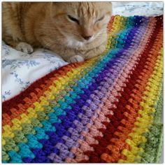 Crochetapy: Relaxation with rainbow #crochet granny stripe