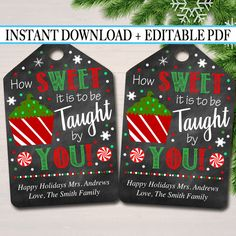 Teacher holiday gifts - Printable Christmas Teacher Favor Tags, Holiday Appreciation Labels Printable INSTANT + EDITABLE Thank You Gift, Xmas Candy Cookie Treat Tag – Teacher holiday gifts Christmas Favors, Teacher Christmas Gifts, Christmas Fun, Holiday Gifts, Christmas Decorations, Homemade Christmas, Christmas Projects, Christmas Thank You Gifts, Christmas Presents For Teachers