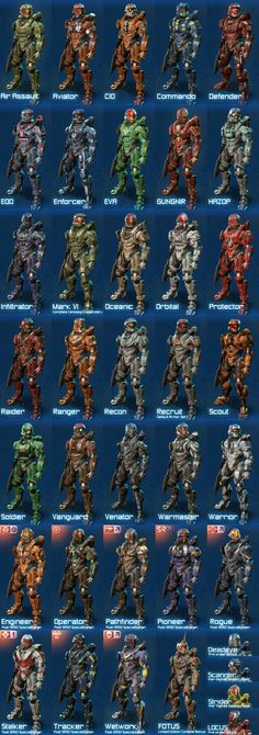 Halo 4 Armor sets