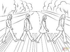 the beatles abbey road coloring pages