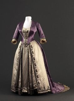 Worth dress with two bodices, 1885-90  From the Musée Galliera Fripperies and Fobs