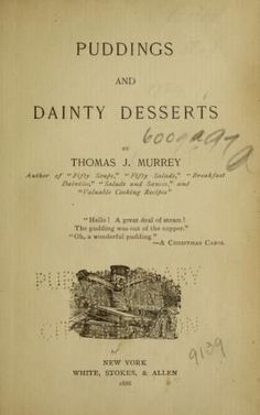 Puddings and dainty desserts