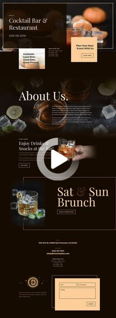 web design The Bar Layout Pack is complete with all the necessities for marketing a bar online. Website Design Inspiration, Web Design Blog, Best Website Design, Website Design Layout, Wordpress Website Design, Web Layout, Web Design Websites, Website Designs, Layout Design
