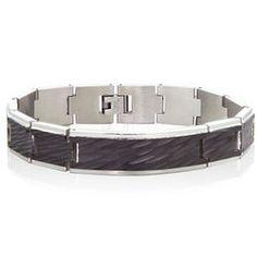 Mens Stainless Steel Waves Bracelet