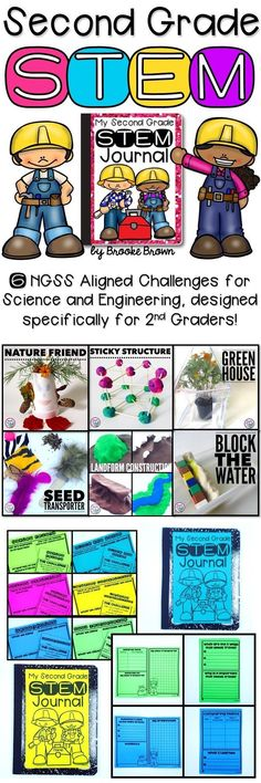 Six engaging STEM Challenges designed specifically for second graders! NGSS aligned for science, engineering, and math | STEM Activities