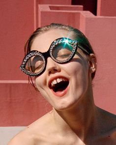 @lindseywixson shining in @gucci glasses for my new @garage_magazine story styled by @taticotliar
