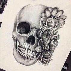 Картинки через We Heart It #drawing #flowers #skull