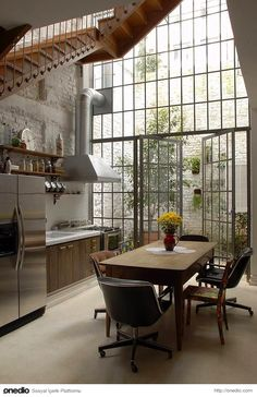 Kitchen Loft House Home Decorating NYC Interior Decorating Design Real Estate Vintage Contemporary design ideas decorating before and after designs home design designs Home Design, Küchen Design, Design Case, Loft House Design, Design Elements, Modern Design, Design Miami, Design Homes, Design Room