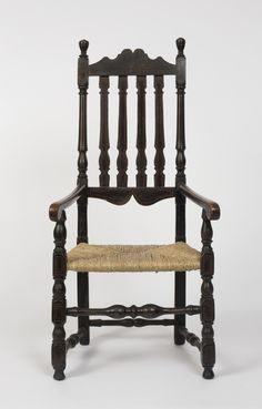 Love, love, love bannister back chairs!~18th century Winthrop, MA bannister back chair