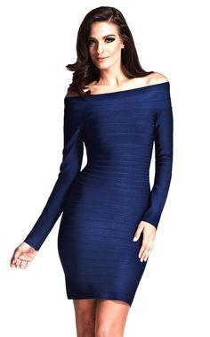 Long Sleeve Bandage Dress - The Kewl Shop  - 1