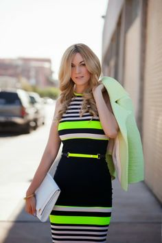 A Little Dash of Darling: Neon Stripes
