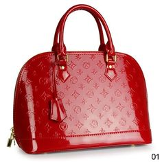 Red purses | Red Leather Handbag,Floral Embossed Patent Red Black Leather Handbag ...