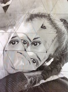 I love this so much, I think it's cool how the triangles are incorporated into the photo joiner and the fact the the pictures look sort of iridescent.