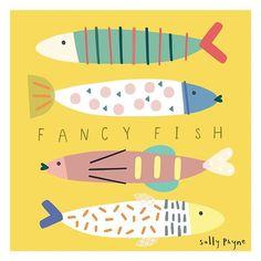 Fish Illustration, Graphic Illustration, Japanese Restaurant Design, Soul Design, Stencil, Sketch Notes, Fish Patterns, Fish Art, Surface Pattern Design