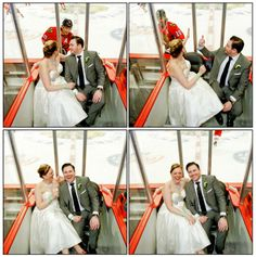 SMILE! Their wedding pictures got a celebrity photobomb courtesy of Patrick Sharp!