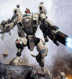 Photo of Tau Empire for fans of Warhammer 35817179 Warhammer 40k Art, Warhammer Fantasy, Warhammer Tabletop, Warhammer Armies, Tau Battlesuit, Empire Tau, Space Marine, Sci Fi Art, Animation
