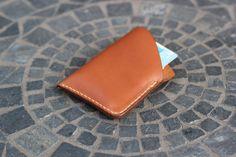 Handmade Slim Minimal Leather Men's Card Holder by GuardedGoods
