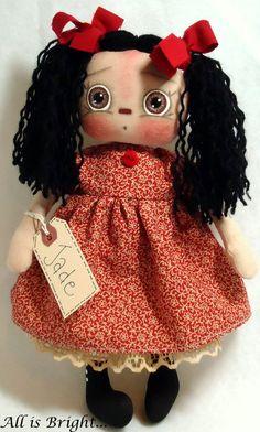 Jade  Raggedy Annie Doll by Allisbright on Etsy, $34.00. Listed at www.etsy.com/shop/allisbright