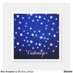 Blue Stargazer Napkins Holiday Cards, Christmas Cards, Christmas Napkins, Stargazer, Ecru Color, Cocktail Napkins, Paper Napkins, Holiday Outfits, Holiday Treats