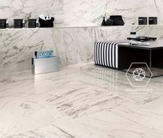 Indoor/outdoor porcelain stoneware floor tiles with marble effect MARVEL PRO Porcelain stoneware Collection by Atlas Concorde Marble Look Tile, Marble Effect, Concorde, Floor Design, Tile Design, Marble Bathroom Accessories, Cladding Panels, Decorative Wall Tiles, Tile Manufacturers