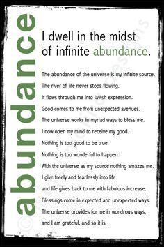 #affirmations | abundance mantra