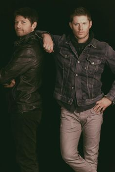 jensen and misha such a great picture! from seacon