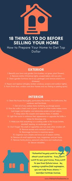 things to do before selling your home infographic 1
