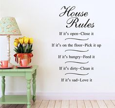 House Rules Words Style Wall Stickers  -  AS THE PICTURE