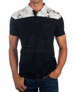Polo Hombre Hugo Boss ® Negro ✶ Paule 5   ENVIO GRATIS Hugo By Hugo Boss, Hugo Boss Shirts, Mens Polo T Shirts, Polo Tees, Golf T Shirts, Camisa Polo, T Shirt Time, My T Shirt, Moda Junior