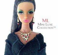 Fashion Doll Jewelry for Fashion Royalty dolls, Poppy Parker, Barbie dolls - Swarovski Crystal