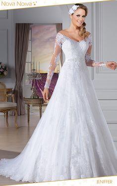 Jeniffer #vestidosdenoiva #noiva #vestidodenoiva #bride #wedding #casamento #weddingdress #weddingdresses #bridaldress