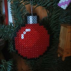 Christmas bauble hama beads by muellers_q