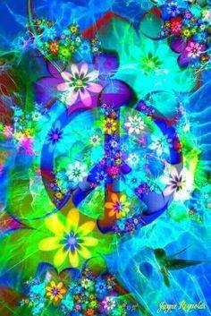 Peace Sign Art by Jayne Reynolds ☮️ Hippie Peace, Happy Hippie, Hippie Love, Hippie Style, Hippie Chick, Peace Love Happiness, Peace And Love, Peace Sign Art, Peace Signs