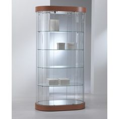 The Elegance Oval Display Showcase Is A Beautifully Crafted Attractive Oval Glass  Cabinet For Retail Displays