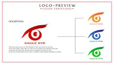 Concept Portfolio Eagle Eye Logo Typographic Logo, Typography, Eye Logo, Eagle Eye, Logo Design, Graphic Design, Logo Color, Mood Boards, Meant To Be