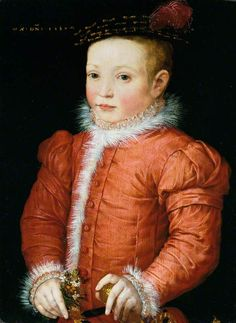 1560 Flemish School - A Boy with a Nosegay | History of fashion in art & photo