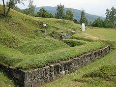 Burebista - Walls from the fortress of Costesti