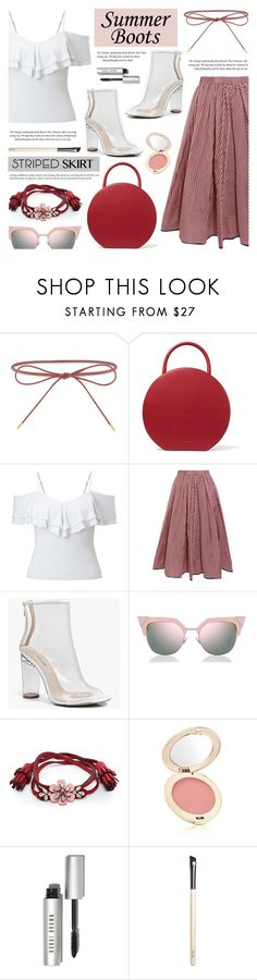 """Walk This Way: Summer Booties"" by anyasdesigns ❤ liked on Polyvore featuring Elizabeth and James, Mansur Gavriel, Miss Selfridge, Tome, Boohoo, Fendi, Shourouk, Jane Iredale, Bobbi Brown Cosmetics and Chantecaille"