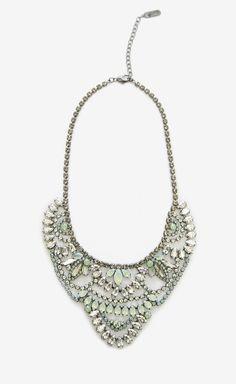 Elizabeth Cole Silver, Green And Multicolor Necklace