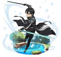 Anime Art, Game Art, Illustration, Fantasy Art, Online Art, Vampire Knight Manga, Art, Sword Art Online Kirito, Dark Fantasy Art