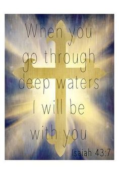 Art Print: Deep Waters by Kimberly Allen : Strong Quotes, Faith Quotes, Bible Quotes, Godly Quotes, Deep Quotes, Marriage Advice Quotes, Bible Scriptures, Bible Book, Biblical Verses
