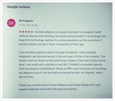 #review of #invisible #orthodontic treatment at #smilekraft