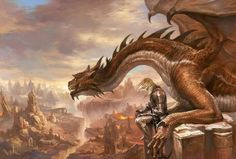 Dragon and his rider