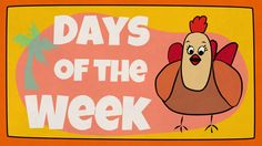 "Our ""Days of the week"" song for kids is an interactive reggae-style tune that helps children remember all the days of the week in a fun way. Mother Hen leads the children to sing the days of the week in various styles - quiet, loud, and fast."