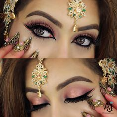 Huda Beauty Rose Gold Palette Huda Beauty Lashes in Farah Arabic inspired eyeshadow look Exotic Makeup, Indian Makeup, Beauty Makeup, Eye Makeup, Witch Makeup, Huda Beauty Rose Gold Palette, Huda Palette, Shape Tape Contour Concealer, Eyeliner