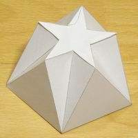 Paper Model of a Pentagonal-pentagrammic Shape Concrete Crafts, Concrete Art, Geometric Solids, Concrete Casting, Mirror Mosaic, Principles Of Design, Paper Crafts Origami, Pentagon Shape, Paper Folding
