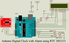 Display date and time (day and second indication). Alarm time setting Display temperature without using dedicated temperature sensor. Can adjust time according to your requirement Dedicated four push buttons for time and alarm time setting. Arduino Lcd, Arduino Programming, Arduino Board, Engineering Projects, Arduino Projects, Diy Electronics, Electronics Projects, Liquid Crystal Display, Digital Clocks