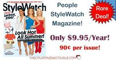 **RARE MAGAZINE** Get People StyleWatch for only $9.95/year! What a great deal! Grab it now!  Click the link below to get all of the details ► http://www.thecouponingcouple.com/people-stylewatch-magazine/ #Coupons #Couponing #CouponCommunity  Visit us at http://www.thecouponingcouple.com for more great posts!