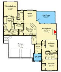 211 best House Plans - over 1800 Sq Ft images on Pinterest | Floor  X Custom Uo House Design on