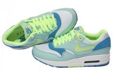 Air Max 1 Female Sport Shoes -Julep Liquid Lime Coast White